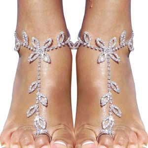 2 Pieces Women's Foot Chain